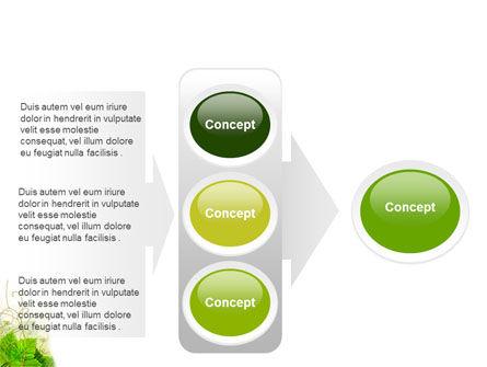 Grape Leaves Ornament PowerPoint Template Slide 11