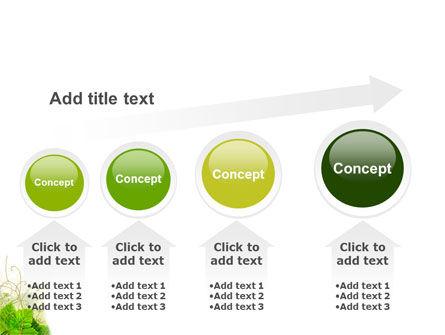 Grape Leaves Ornament PowerPoint Template Slide 13