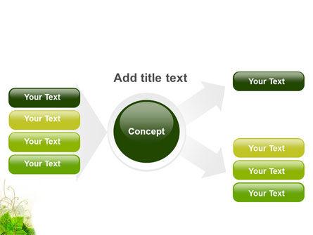 Grape Leaves Ornament PowerPoint Template Slide 14