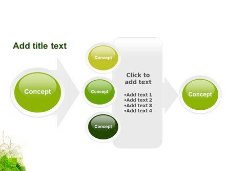Grape Leaves Ornament PowerPoint Template Slide 17