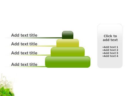 Grape Leaves Ornament PowerPoint Template Slide 8