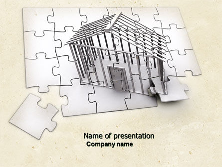 Dwelling PowerPoint Template, 04424, Construction — PoweredTemplate.com