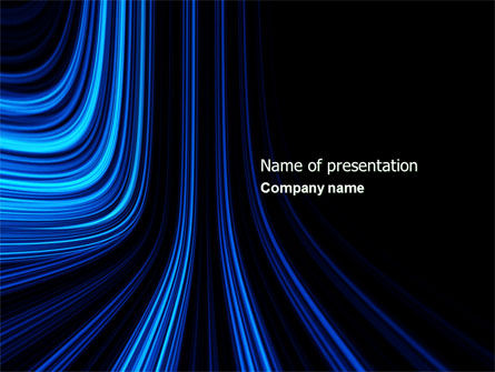 Abstract/Textures: Blue Stripes PowerPoint Template #04425