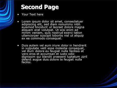 Blue Stripes PowerPoint Template, Slide 2, 04425, Abstract/Textures — PoweredTemplate.com
