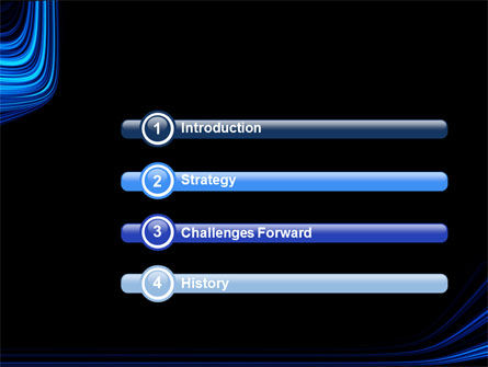 Blue Stripes PowerPoint Template Slide 3
