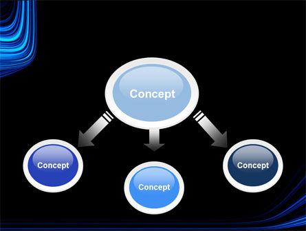Blue Stripes PowerPoint Template, Slide 4, 04425, Abstract/Textures — PoweredTemplate.com