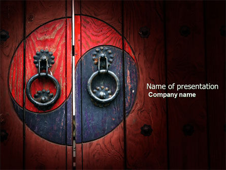 Zen door powerpoint template backgrounds 04426 zen door powerpoint template 04426 flagsinternational poweredtemplate toneelgroepblik Choice Image