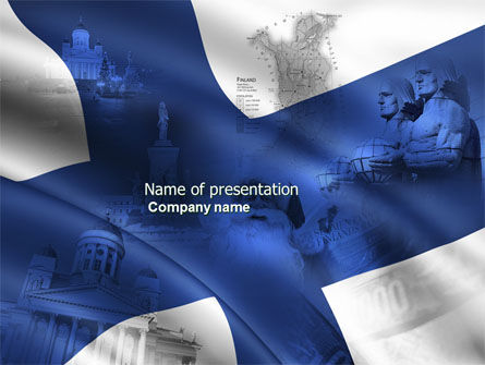 Flags/International: Finland PowerPoint Template #04427