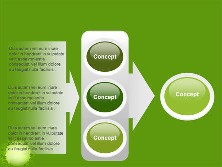 Green Circle Free PowerPoint Template Slide 11