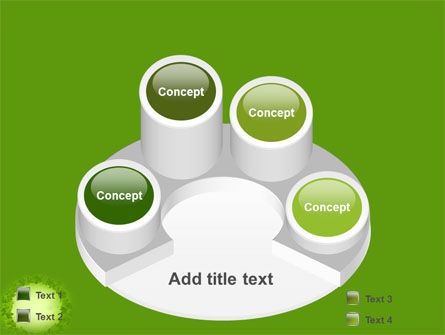 Free Green Circle PowerPoint Template Slide 12