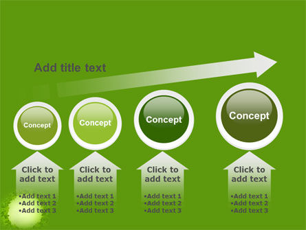 Green Circle Free PowerPoint Template Slide 13