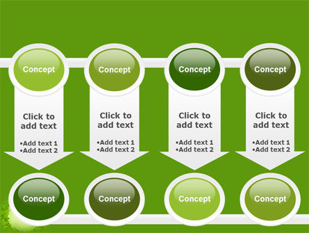 Green Circle Free PowerPoint Template Slide 18