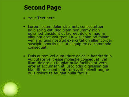 Green Circle Free PowerPoint Template Slide 2