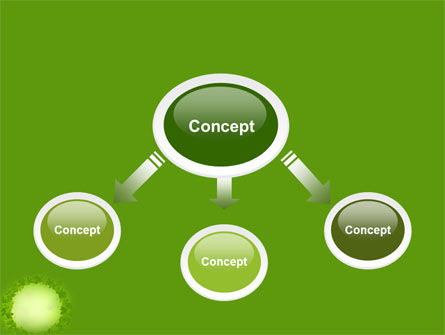Green Circle Free PowerPoint Template, Slide 4, 04428, Abstract/Textures — PoweredTemplate.com