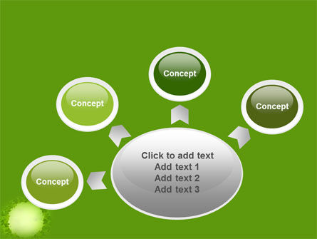 Green Circle Free PowerPoint Template Slide 7