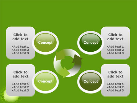 Free Green Circle PowerPoint Template Slide 9