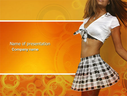 People: Summer Love PowerPoint Template #04429