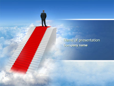 Success Way PowerPoint Template, 04434, Careers/Industry — PoweredTemplate.com