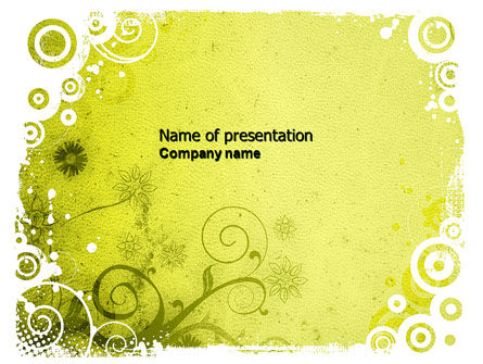 Abstract/Textures: Cool Theme PowerPoint Template #04435
