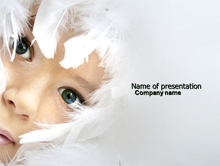 Art & Entertainment: White Feathers PowerPoint Template #04436