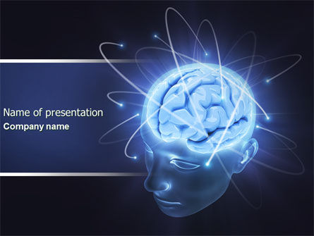 Brain Waves Powerpoint Template Backgrounds