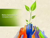 Nature & Environment: Ecology Building PowerPoint Template #04438