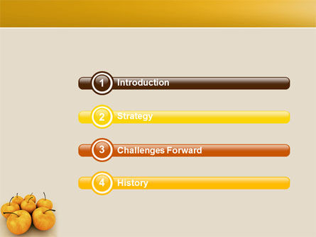 Yellow Apples PowerPoint Template, Slide 3, 04439, Agriculture — PoweredTemplate.com