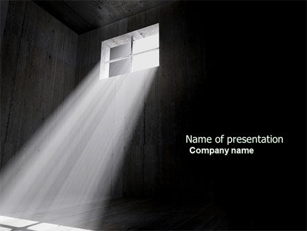 Window In The Prison Chamber PowerPoint Template, 04441, Consulting — PoweredTemplate.com