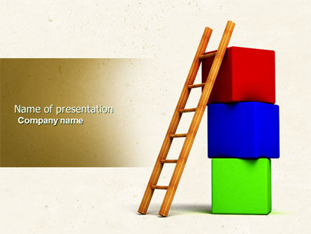 Ladder PowerPoint Template, 04442, Education & Training — PoweredTemplate.com