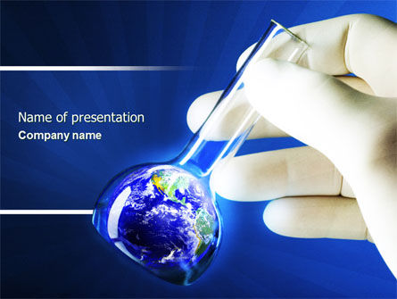 Volumetric Flask PowerPoint Template, 04443, Technology and Science — PoweredTemplate.com