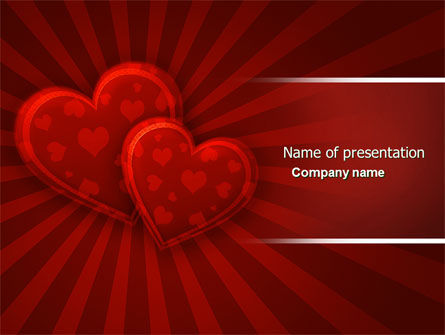 Red Hearts PowerPoint Template, 04444, Holiday/Special Occasion — PoweredTemplate.com