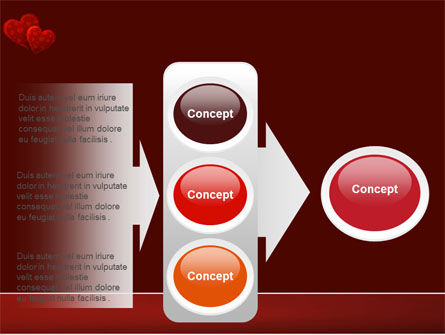 Red Hearts PowerPoint Template Slide 11