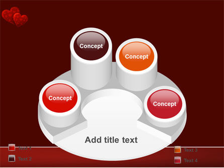 Red Hearts PowerPoint Template Slide 12