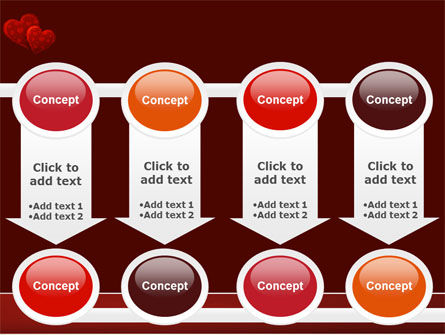 Red Hearts PowerPoint Template Slide 18