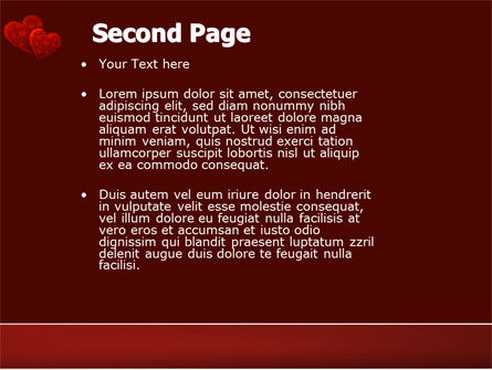 Red Hearts PowerPoint Template Slide 2