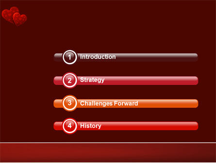 Red Hearts PowerPoint Template Slide 3