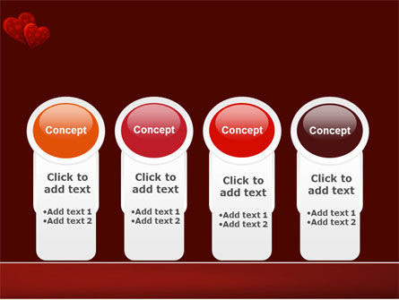 Red Hearts PowerPoint Template Slide 5
