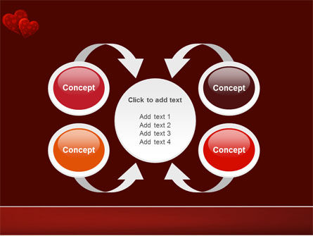 Red Hearts PowerPoint Template Slide 6