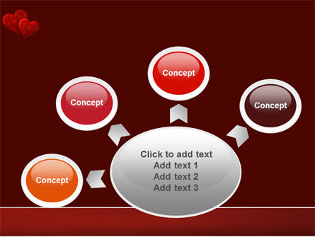 Red Hearts PowerPoint Template Slide 7