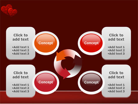 Red Hearts PowerPoint Template Slide 9