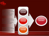 Red Hearts PowerPoint Template#11