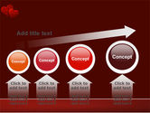 Red Hearts PowerPoint Template#13
