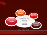 Red Hearts PowerPoint Template#16