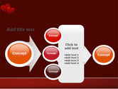 Red Hearts PowerPoint Template#17