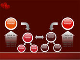 Red Hearts PowerPoint Template#19