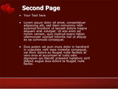 Red Hearts PowerPoint Template#2
