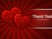 Red Hearts PowerPoint Template#20