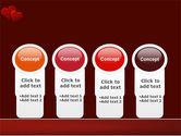 Red Hearts PowerPoint Template#5