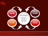 Red Hearts PowerPoint Template#6