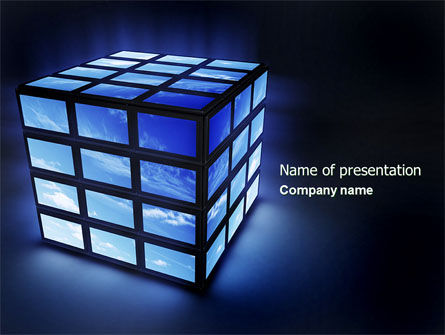 Abstract/Textures: Sky Cube PowerPoint Template #04447